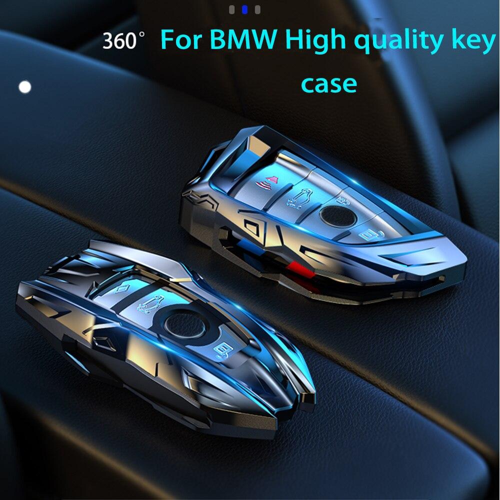 Ze stopu cynku obudowa kluczyka do samochodu pokrowiec na BMW X1 X3 X5 X6 serii 1 2 5 7 F15 F16 E53 E70 E39 F10 F30 G30 obudowa kluczyka samochodowego Protecor