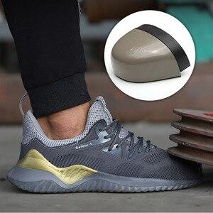 Image 4 - MWSC zapatos de trabajo de seguridad para hombre, botas de trabajo con punta de acero antigolpes, indestructibles, zapatillas de seguridad