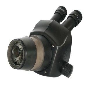 Image 3 - 8X 50X Trinocular Simul Focalสเตอริโอซูมกล้องจุลทรรศน์WF10X/22 สายตายาว 0.5X 2.0Xเลนส์วัตถุประสงค์เครื่องประดับPCBซ่อมเครื่องมือ
