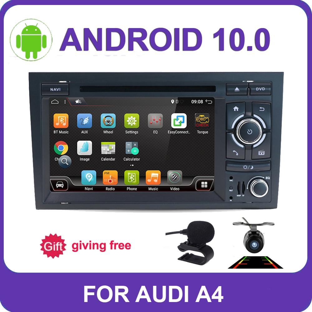 Android 10,0 4 Core 2GB RAM dirección reproductor de DVD del coche GPS mapa DVR cámara trasera TV OBD2 Radio RDS BT para Audi A4 B7 S4 RS4 SEAT EXEO