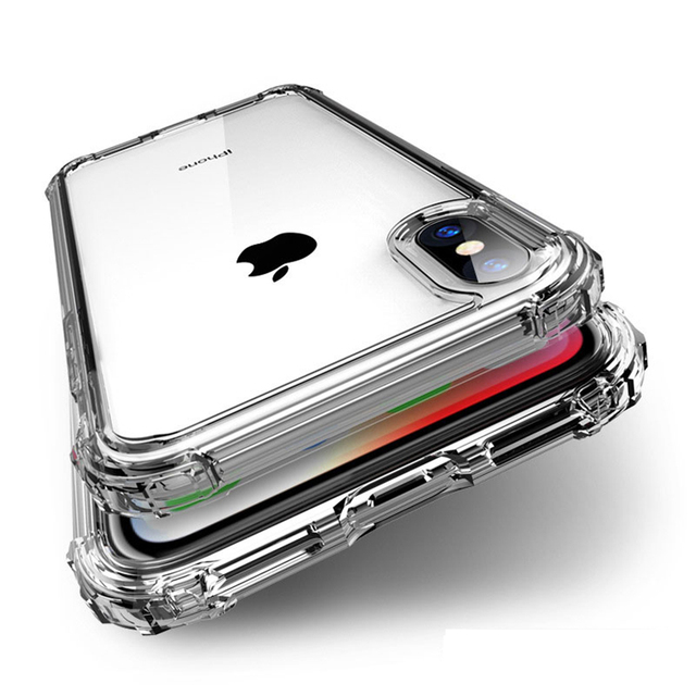 Shockproof Luxury Clear Transparent Silicone Phone Case For iphone 5 5S SE 6 6S 7 8 X XS 11 Pro MAX XR Plus 2020 Protection Case 1