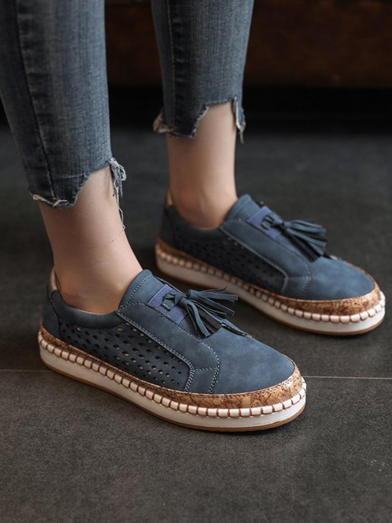 Sneaker Women Casual Shoes Fashion Breathble Lace-up Women Vulcanized Shoes Flat Platform Female Sneaker Zapatillas Mujer  (17)
