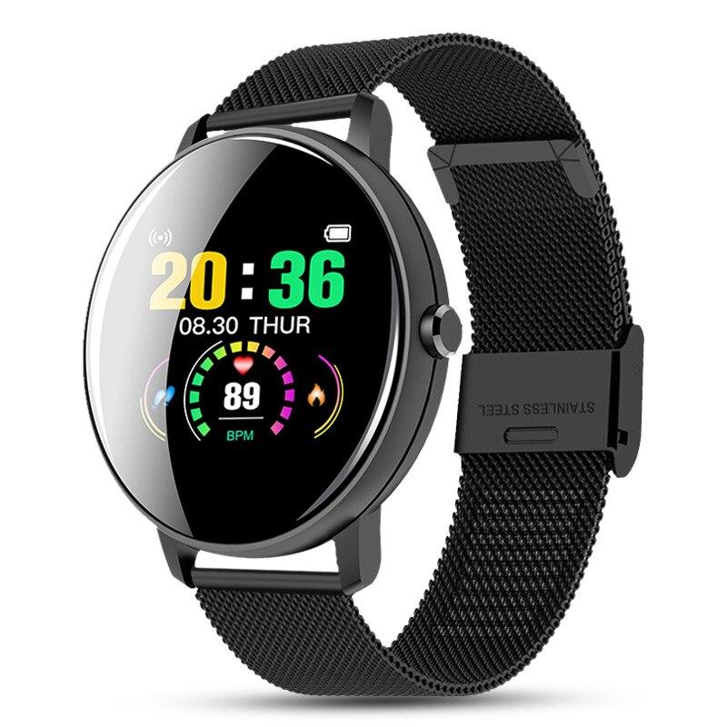 Женские и мужские умные электронные часы кровяное Давление цифровой интеллигентая (ый) часы калорий спортивные наручные часы DND режим для IOS и Android|Цифровые часы| | АлиЭкспресс