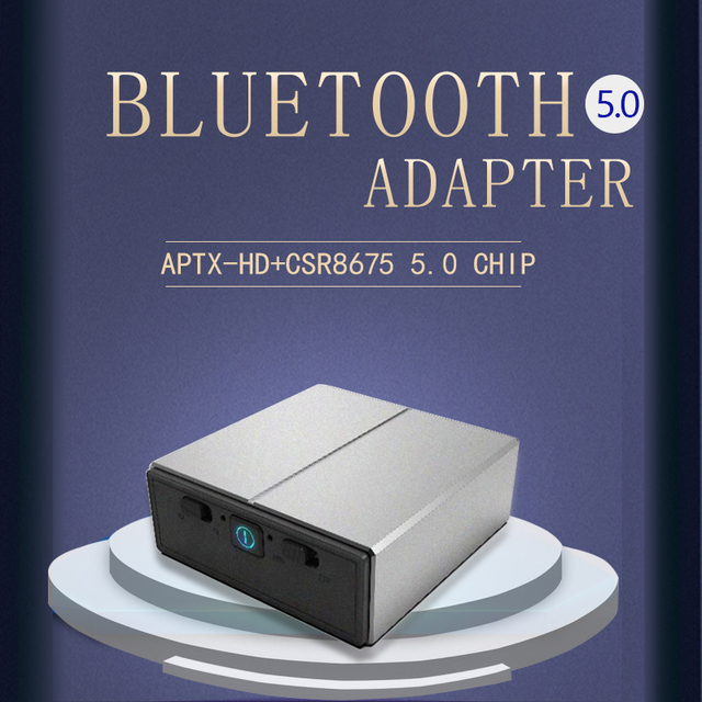 DISOUR CSR8675 Aptx HD محول لاسلكي 3.5 مللي متر AUX 5.0 2 في 1 الصوت بلوتوث استقبال الارسال AAC SBC الكمون المنخفض لسيارة TV