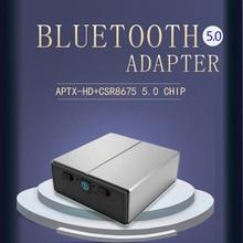 DISOUR CSR8675 Aptx HD kablosuz adaptör 3.5MM AUX 5.0 2 IN 1 ses Bluetooth alıcısı verici AAC SBC düşük gecikme için araba TV