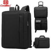 コンバーチブル大ノートパソコンのバックパック男性 15,17 インチビジネスショルダーバッグバックパック男性スクールバッグ十代のための旅行バッグ