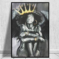 Naturalnie królowa IX anioł wydruki na płótnie plakat artystyczny na płótnie odbitki ścienne i plakat z obrazem komiks salon dekoracji wnętrz