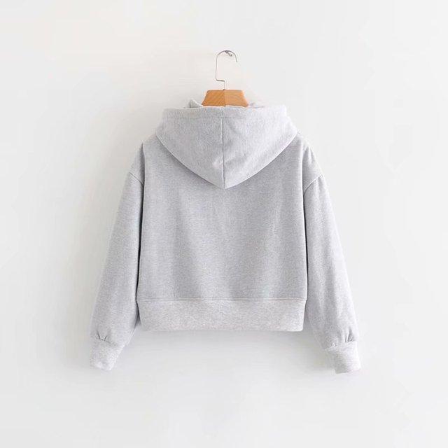 GOPLUS 2021 New Brand Hoodie Streetwear Hip Hop Black White Gray Hooded Hoodies Drop-Shoulder Short Hoodies and Sweatshirts 2