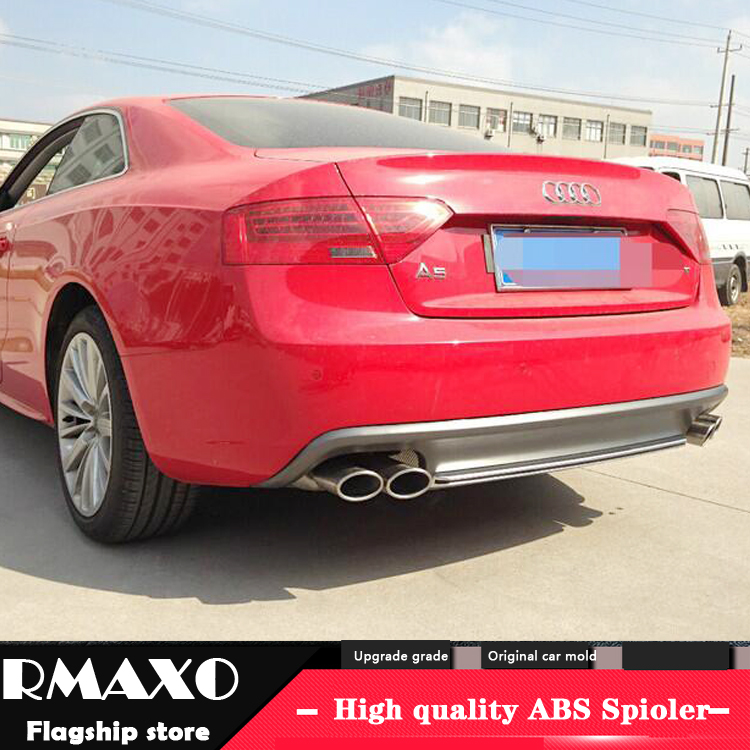 For Audi A5 S5 Body kit spoiler 2012 2015 For Audi A5 SLINE ABS Rear lip rear spoiler front Bumper Diffuser Bumpers Protector