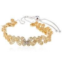 New 925 Sterling Silver Bracelet Shine Openwork Butterflies Sliding Bracelet Bangle Fit Women Bead Charm Diy Europe Jewelry