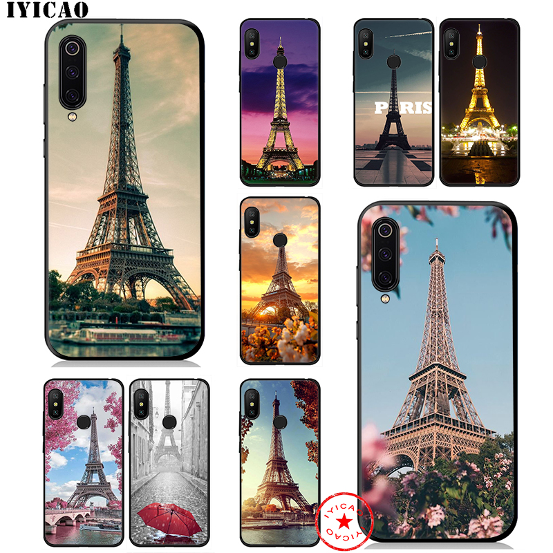 IYICAO London Eiffel Tower Soft Case for <font><b>Xiaomi</b></font> <font><b>Mi</b></font> <font><b>A3</b></font> A2 A1 CC9 CC9E 9T 9 8 6 SE Lite Pro <font><b>Mi</b></font> F1 Max 3 5X 6X MiA1 MiA2 <font><b>Cover</b></font> image