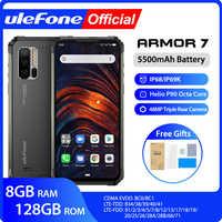 Ulefone Armatura 7 IP68 Robusto Telefono Mobile 2.4G/5G WiFi Helio P90 8GB + 128GB android 9.0 48MP CAM 4G LTE Versione Globale Smartphone