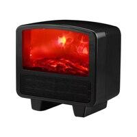 Mini elétrico chama aquecedor de ar aquecedor ptc cerâmica aquecimento fogão radiador casa acessível ventilador para escritório em casa|Aquecedores elétricos| |  -