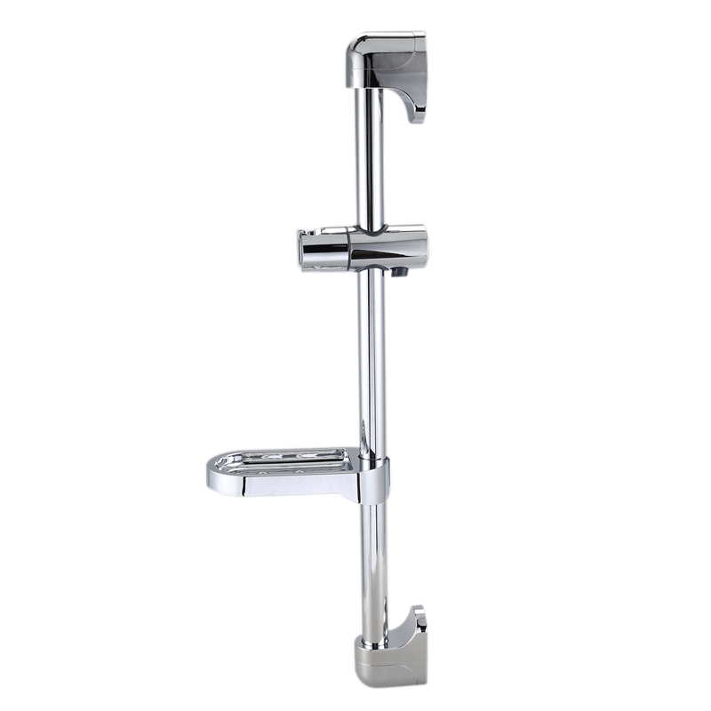 Shower Rod Shower Head Bracket Stainless Steel Liftable Handheld Shower Bracket With Soap Box