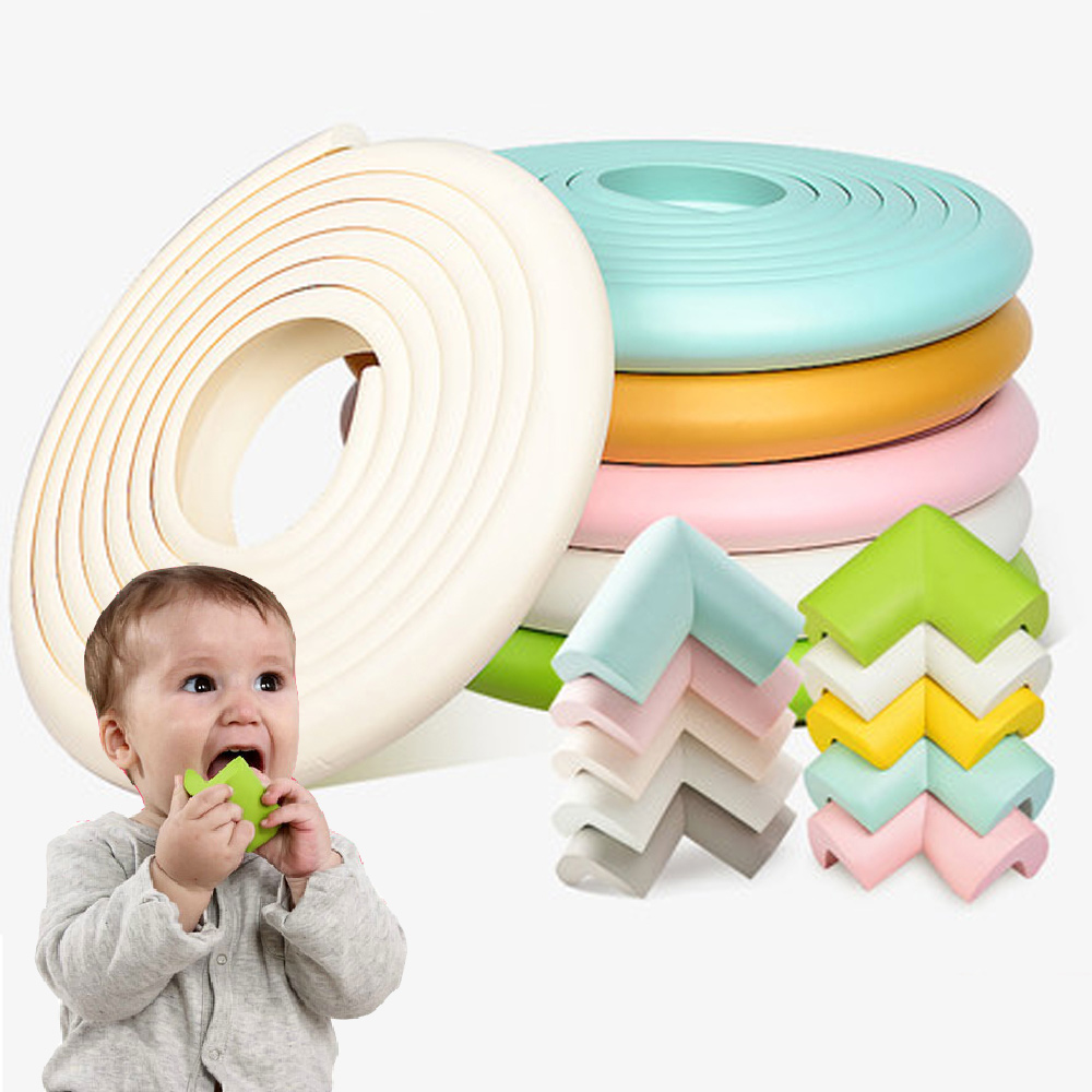 5M+8Pcs Baby Safety Corner Protector Children Protection Furniture Corners Angle Protection Child Safety Table Protector Tape