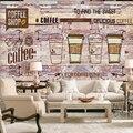 Livraison directe livraison directe personnalisé Europe et amérique pierre mur lait thé café fond thé café Mural