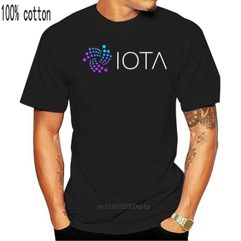 IOTA Coin Cryptocurrency Men T Shirt Popular Leisure Oversize Cotton Crewneck Short Sleeve Clothes For Men image