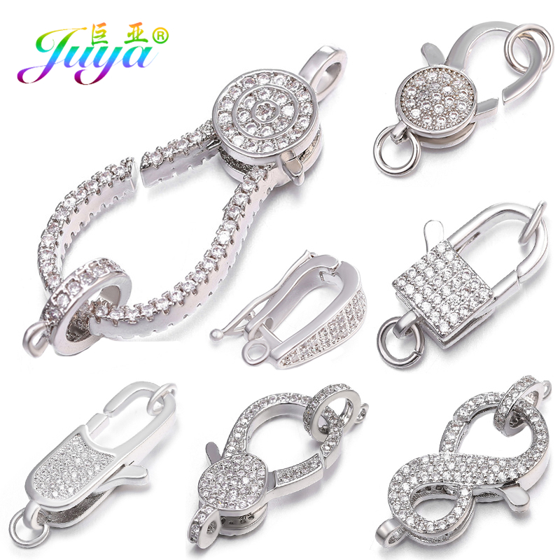 Juya DIY Pearls Jewelry Decorative Clasp Supplies Screw Lobster Clasp Fasteners For Women Luxury Needlework Beads Jewelry Making