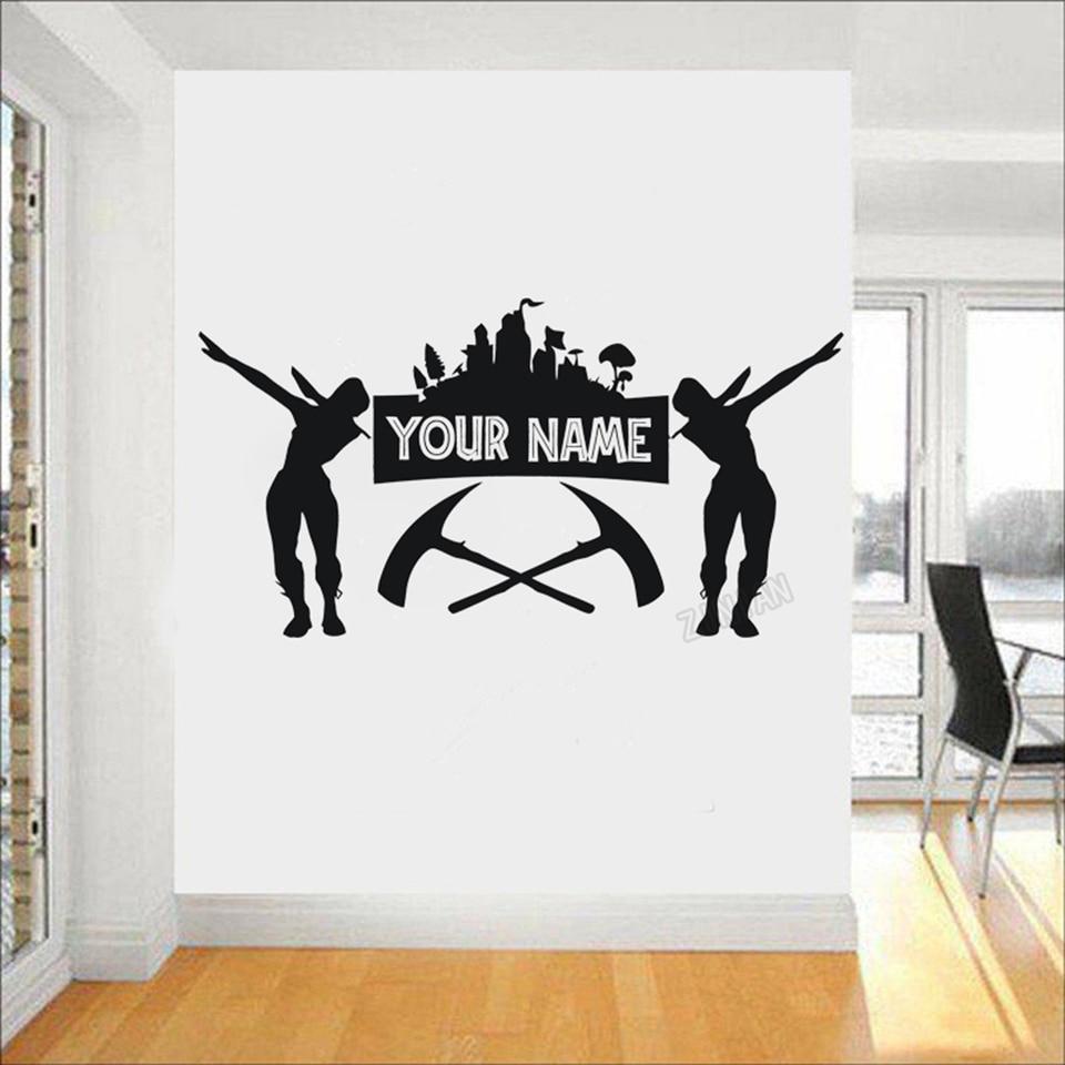 Game Thủ Tùy Chỉnh Tên Decal Dán Tường Cho Bé Trai Trang Trí Phòng PS4  Battle Royale Poster Decal Dán Tường Cho Bé Phòng Vincy Treo Tường miếng  Dán Y039 - AliExpress