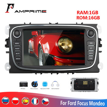 AMPrime Android 2Din Car Multimedia player 7 Autoradio For Ford/Focus/C-Max/Mondeo/Galaxy GPS Wifi Car Radio Mirrorlink FM USB image