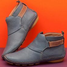 2019 New Women Natrual Leather Casual Ankle Boots Comfortable Quality Soft Handm