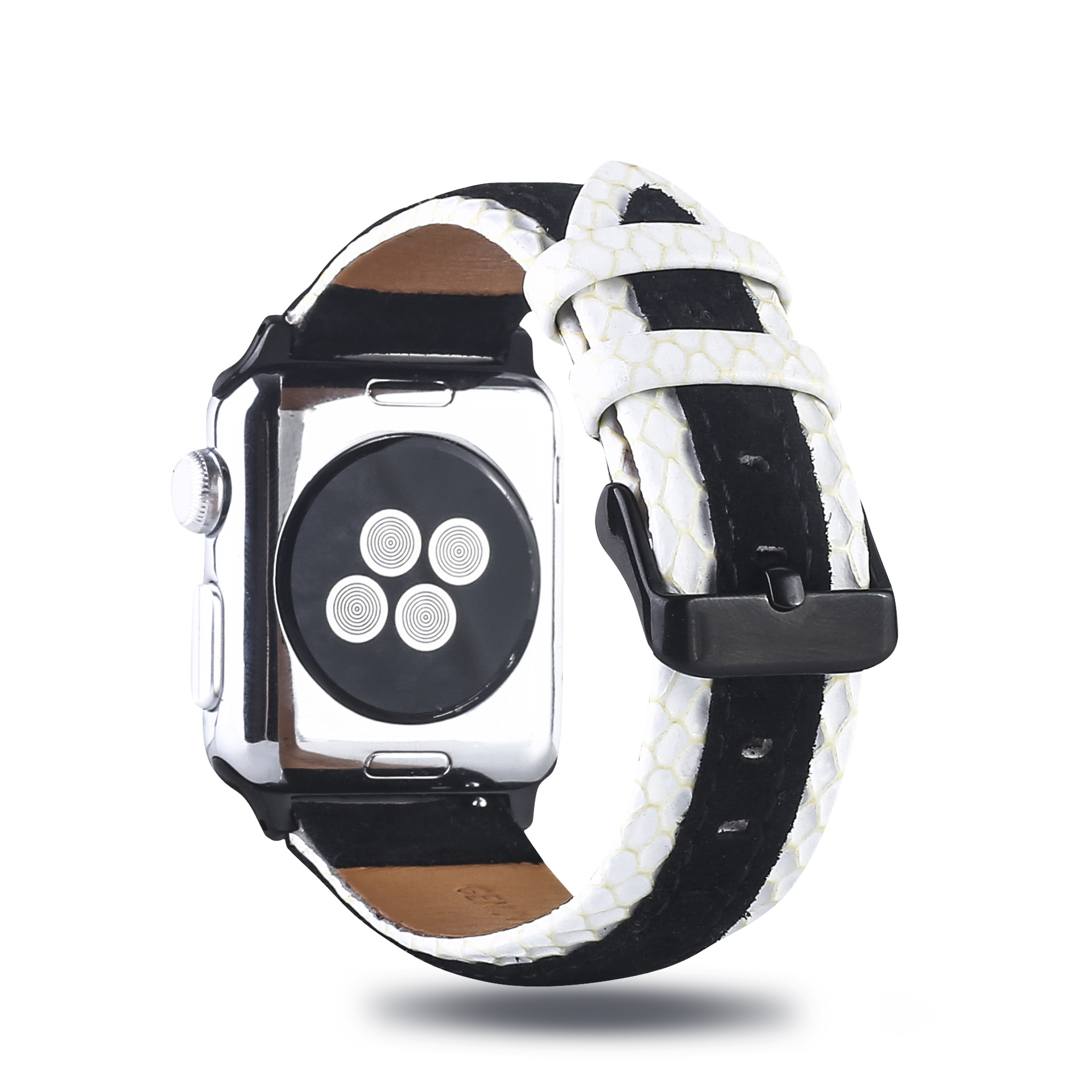 High-End Apple Leather Watch Strap Applicable AppleWatch Cowhide Double Color Watch Strap IWatch Mixed Colors Replacement Wrist