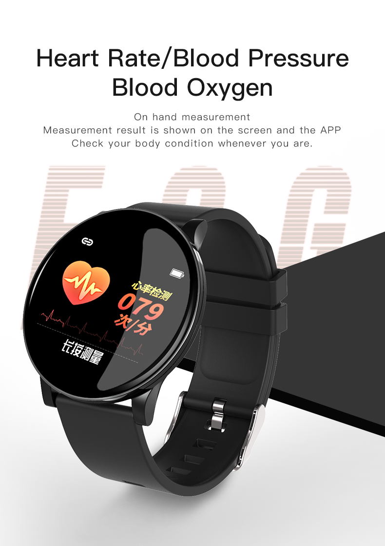 He535a359b29043e983a7b2a746b10e672 2020 Full Touch Smart Watch Men Blood Pressure Heart Rate Monitor Round Smartwatch Women Waterproof Sport Clock For Android IOS