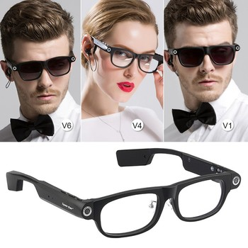 High Quality Bluetooth Smart Glasses Hands-Free Call 1080P Camera Video GPS Navigation Remind Sunglasses