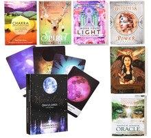 Oráculo de la Luna, cubierta de cartas, mensajes de la inteligencia, diosa del ángel, trabajo, mantener el espíritu, Animal, padres, luz, oráculo místico, Tarot