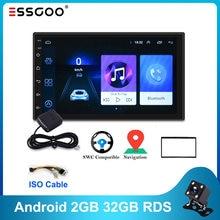 Essgoo Android Autoradio RDS 2GB+32GB 1GB+16GB Car Radio Gps Navigation Universal Auto Radio Wifi 2Din Central Multimidia Player