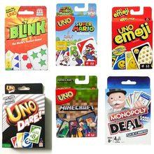 Mattel jeux UNO classique (boîte en fer blanc) multijoueur fête famille loisirs UNO Poker plateau Puzzle jeux cartes Fun Poker cartes à jouer
