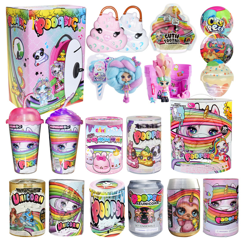 Poopsie Slime Unicorn Ball Dolls Spit Mucus Toy Kids Sparkly Critters Squishy Stool Squish Rainbow Stress Reliver Toys For Girls