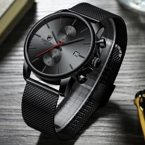 Image 5 - Top Luxury Brand Men zegarki biznesowe chronograf wodoodporny analogowy zegarek na rękę kwarcowy pełny stalowy męski zegar Relogio Masculino