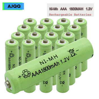 Sale Cheap AJQQ pilas NI-MH nimh aaa 1.2V Rechargeable Battery 1800MAH aaa аккумуляторная батарея Remote Control For Toy Mouse