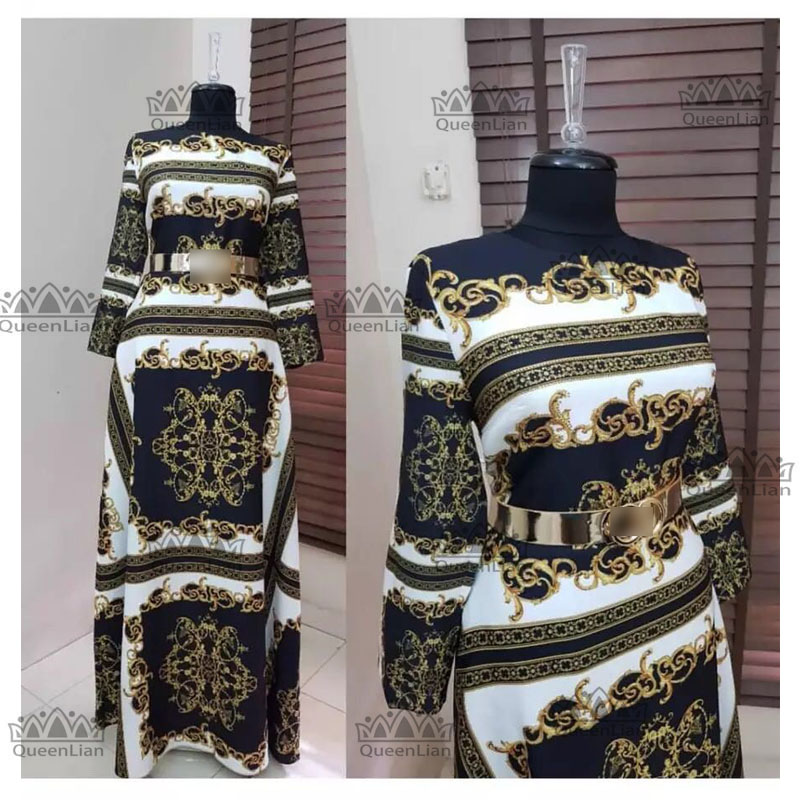 New African  Elastic  Bazin 3 Size  Baggy Pants Rock  Style  Dashiki  Sleeve  Dress  For Lady (01#)
