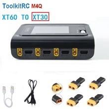 ToolkitRC M4Q 4X50W 5A AC 100W 4 Cổng DC Sạc Thông Minh XT60/XT30 Tùy Chọn Cho 1 4S Lipo Pin