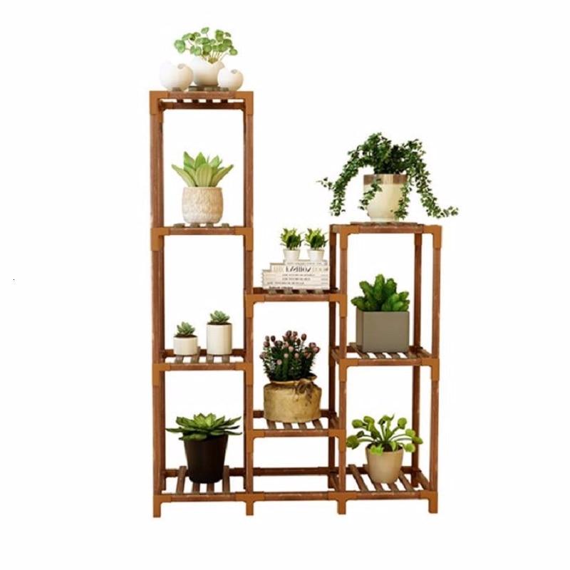 For Escalera Decorativa Madera Rack Living Room Wood Plantenstandaard Plant Balcony Outdoor Stojak Na Kwiaty Shelf Flower Stand