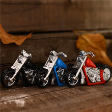 Забавная газовая мини зажигалка для мотоцикла необычные креативные