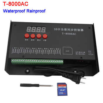 LED controller T-8000AC SD Card Controller for WS2801 WS2811 LPD8806 8192 Pixels waterproof Rainproof controller AC110-240V - DISCOUNT ITEM  26% OFF All Category