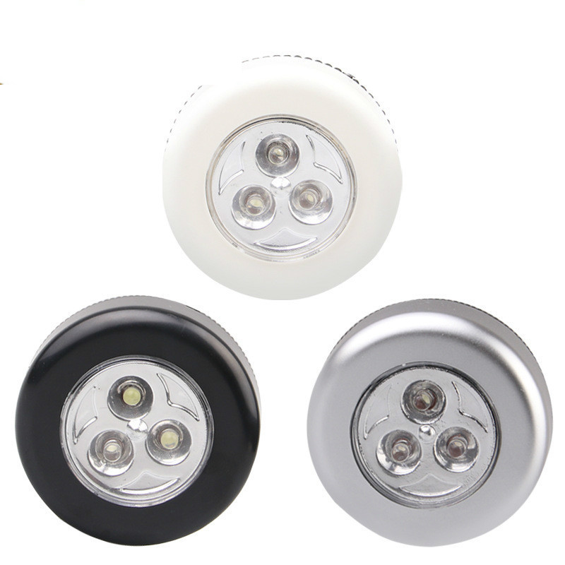 3 LED Closet Under Cabinet Lamp AAA Battery Powered Wireless Touch Switch Kitchen Wall Car Night Light For Car Boot Outdoor Tool
