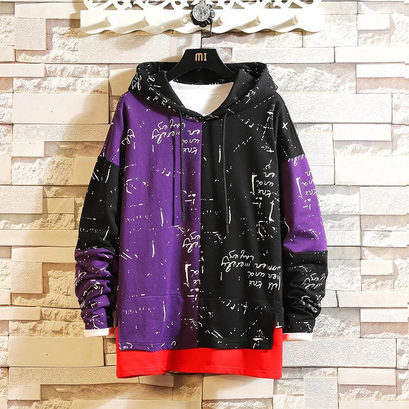 Fashion High Quality Sweatshirt Men Hip Hop Long Sleeve Pullover Hoodies Sweatshirt 2019 AUTUMN Clothes