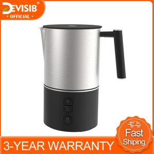 Image 1 - DEVISIB Automatic Milk Frother Electric Steamer Cappuccino Hot /Cold Coffee Stainless Steel Dishwasher Safe