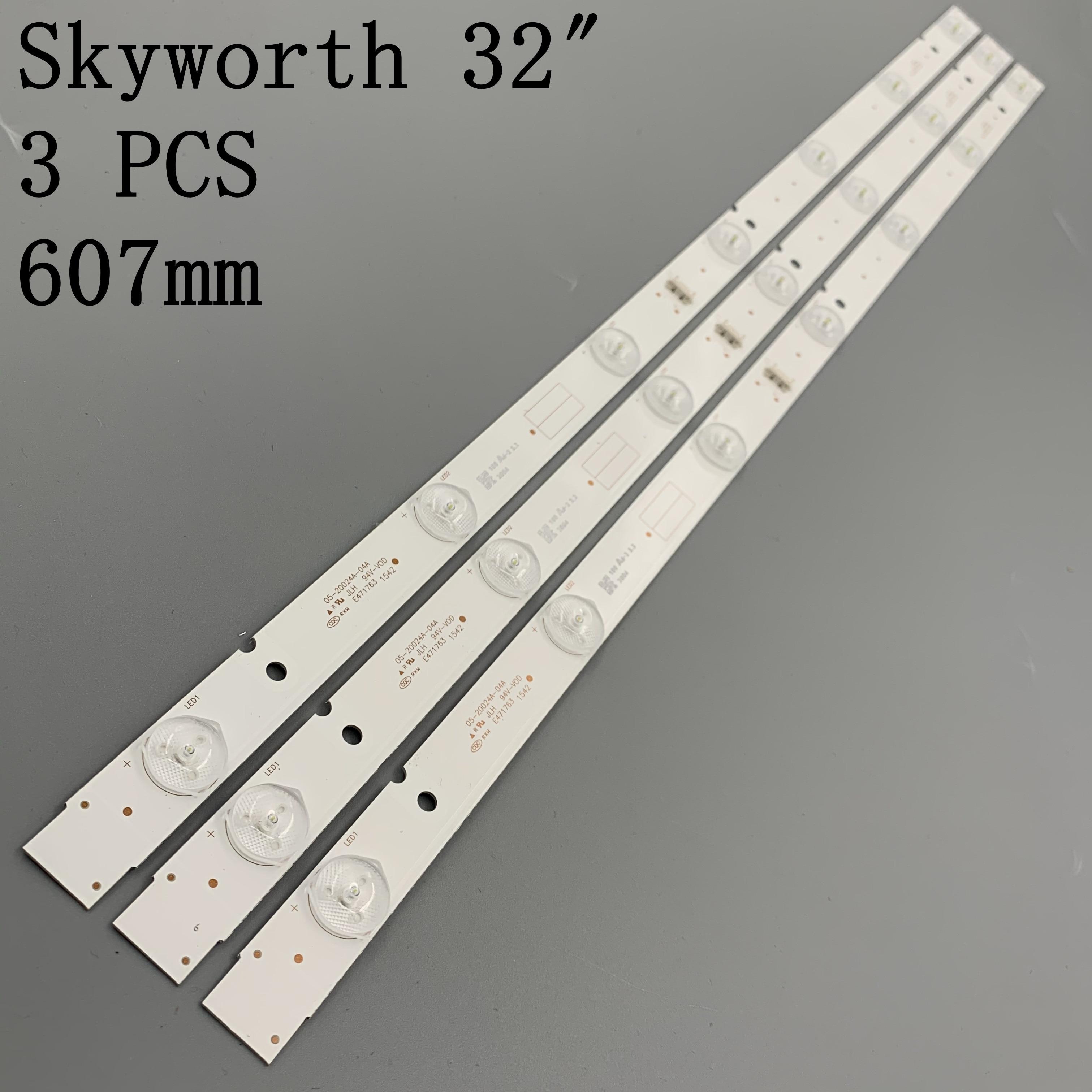 3 шт./лот хорошо работает для световой ленты SKYWORTH 32E3000 5800-W32001-3P00 05-20024A-04A универсальные лампы