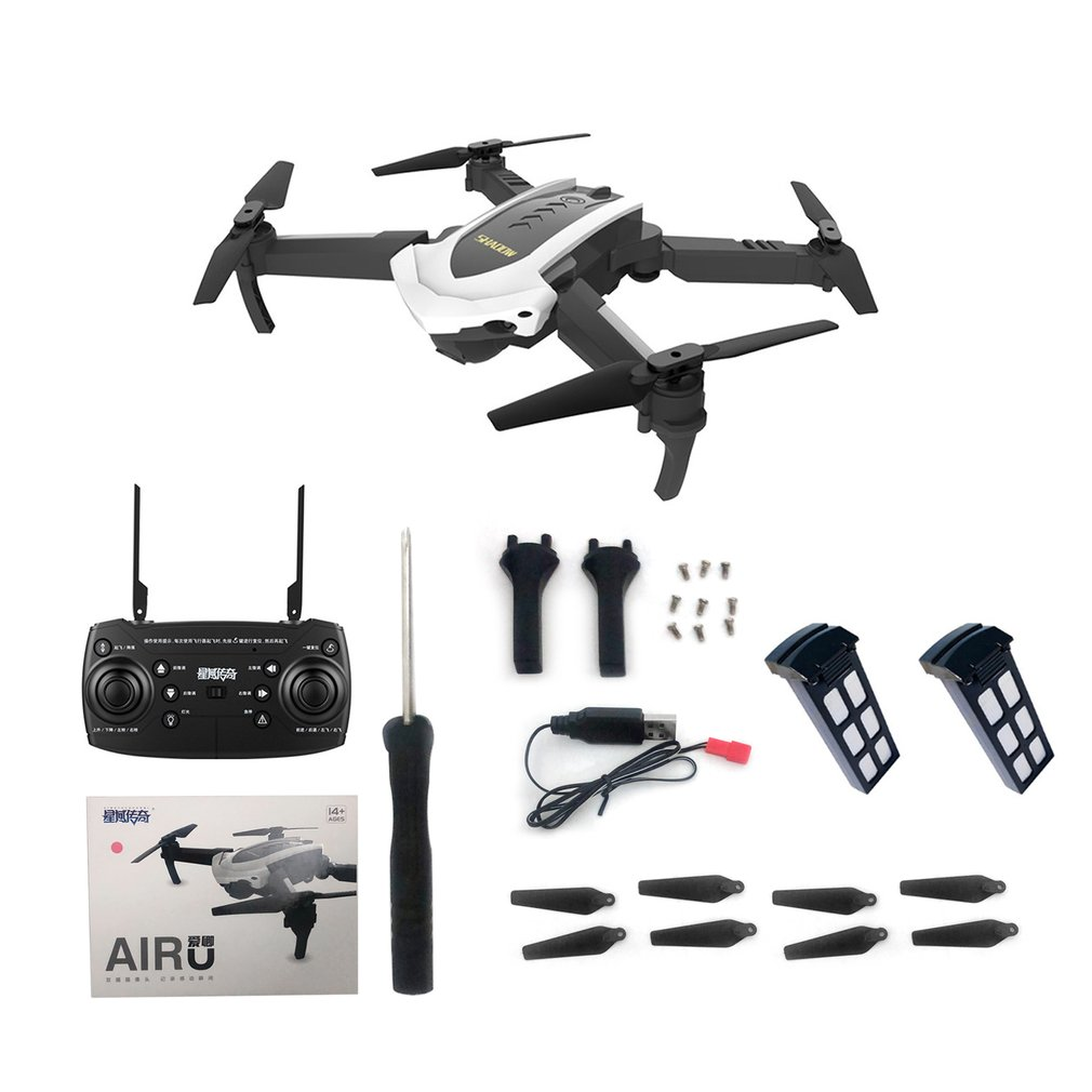4D-8 WIFI Foldable RC Drone 5MP Camera Optical flow positioning Remote Control Helicopter Aircraft with LED light