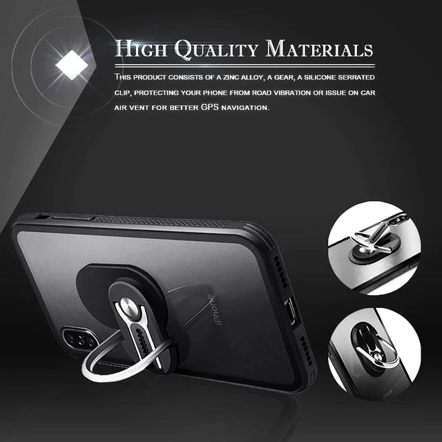Multipurpose Mobile Phone Bracket Holder 360 Degree Car Air Vent Grip Mount Stand Rotation Magnetic Finger Ring Phone Holder 6