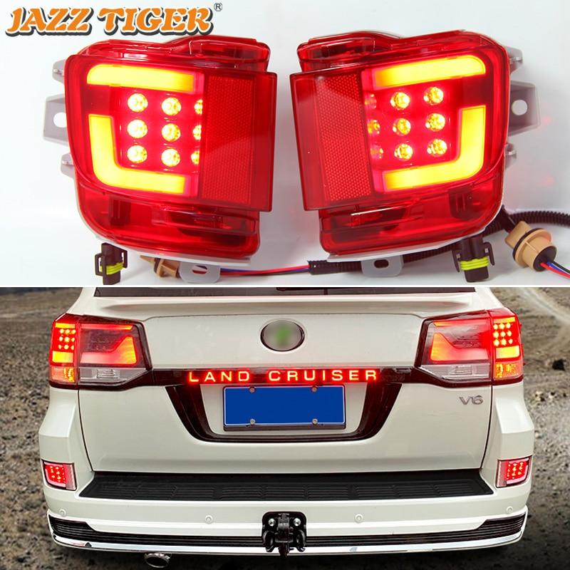 2-in-1 Funktionen Auto LED Hinten Nebel Lampe Bremslicht Hinten Stoßstange Dekoration Lampe Für Toyota Land cruiser 200 LC200 2016 - 2020