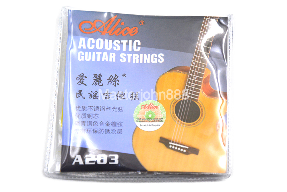 Alice A203-SL Acoustic Guitar Strings Stainless Steel&Phosphor Bronze Color Alloy Wound Strings