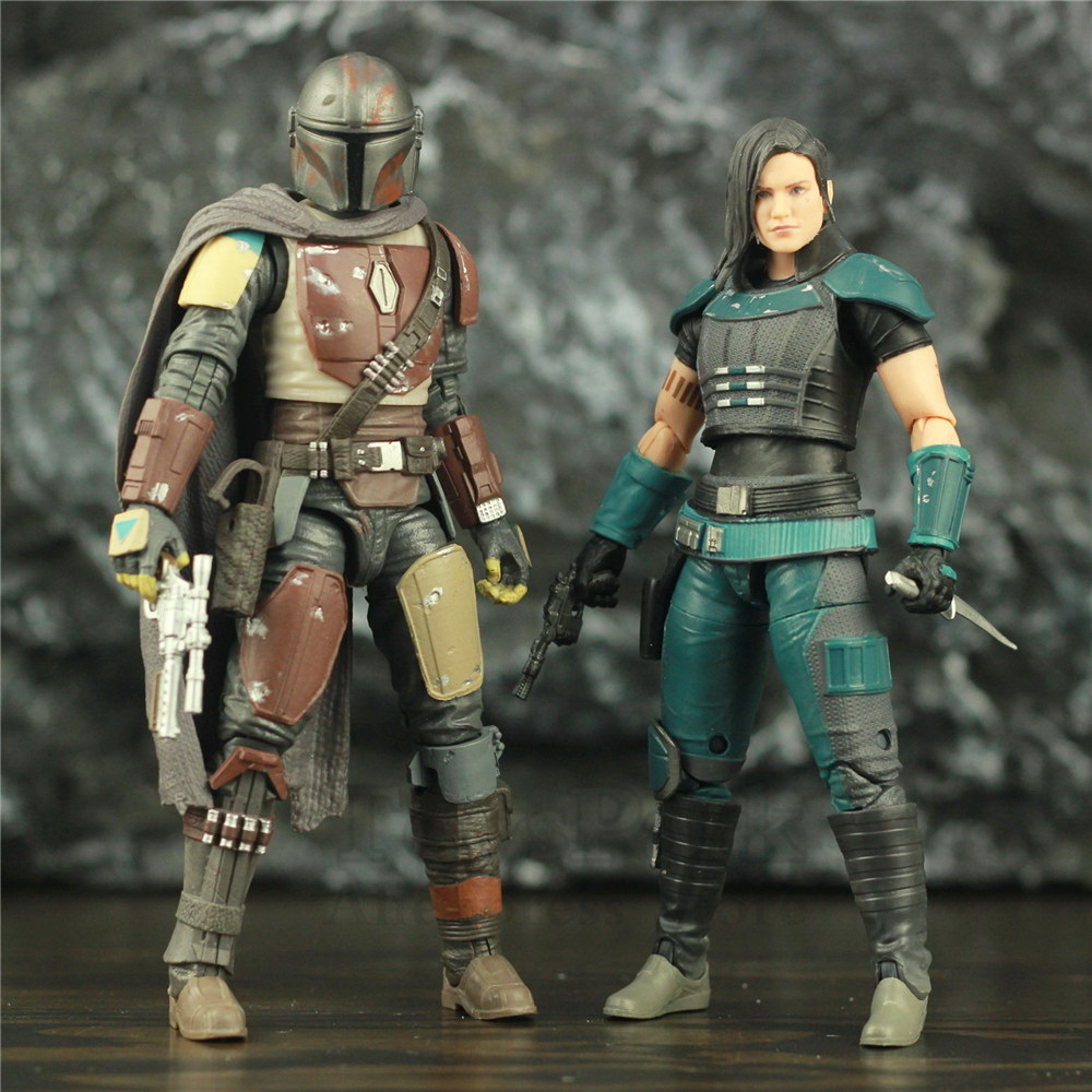 "Star Wars Mandalorian Cara Dune 6"" TV Action Figure Carbonized Original Black Series Collectible Toys Doll"