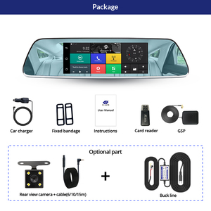 Image 5 - E ACE 3G Car Dvrs 7 Inch Touch Rearview Mirror Cameras Android 5.0 GPS Bluetooth Handfree WIFI FHD 1080P 16G Video Recorder