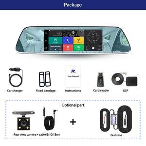 Image 5 - E ACE الجيل الثالث 3G سيارة Dvrs 7 بوصة تعمل باللمس مرآة الرؤية الخلفية كاميرات أندرويد 5.0 GPS بلوتوث Handfree واي فاي FHD 1080P 16G مسجل فيديو